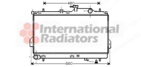 Radiateur, refroidissement du moteur - VAN WEZEL - 82002098