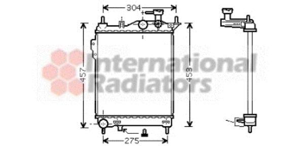 Radiateur, refroidissement du moteur - VAN WEZEL - 82002099