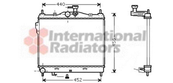 Radiateur, refroidissement du moteur - VAN WEZEL - 82002101