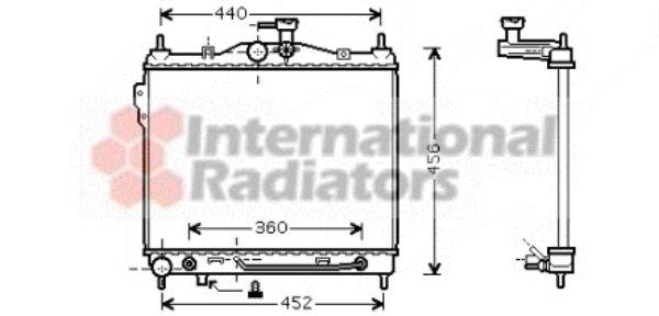 Radiateur, refroidissement du moteur - VAN WEZEL - 82002102