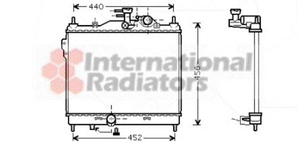 Radiateur, refroidissement du moteur - VAN WEZEL - 82002103