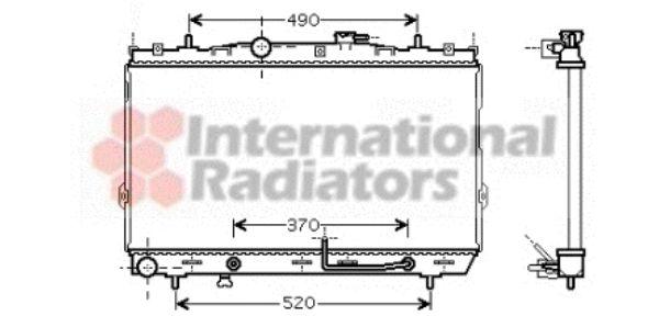 Radiateur, refroidissement du moteur - VAN WEZEL - 82002105