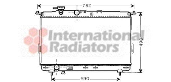 Radiateur, refroidissement du moteur - VAN WEZEL - 82002106