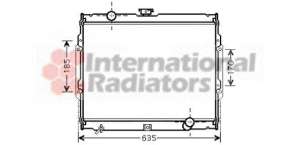 Radiateur, refroidissement du moteur - VAN WEZEL - 82002108