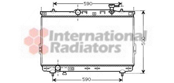 Radiateur, refroidissement du moteur - VAN WEZEL - 82002109