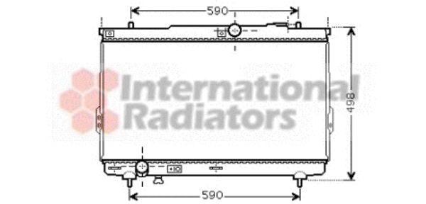 Radiateur, refroidissement du moteur - VAN WEZEL - 82002111