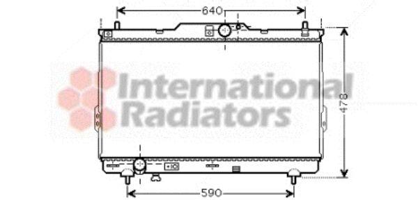 Radiateur, refroidissement du moteur - VAN WEZEL - 82002113