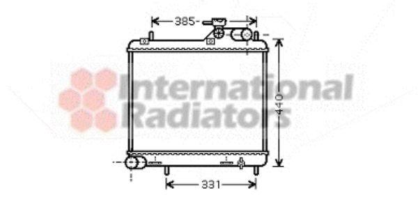 Radiateur, refroidissement du moteur - VAN WEZEL - 82002125