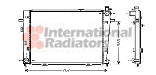 Radiateur, refroidissement du moteur - VAN WEZEL - 82002126
