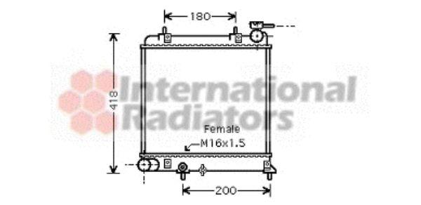 Radiateur, refroidissement du moteur - VAN WEZEL - 82002129