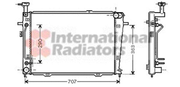 Radiateur, refroidissement du moteur - VAN WEZEL - 82002130