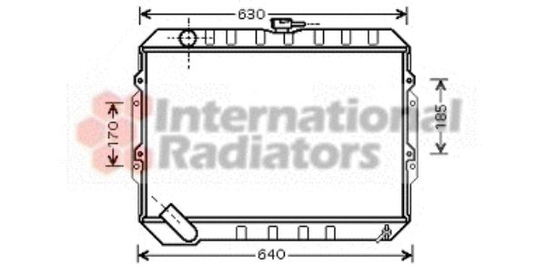 Radiateur, refroidissement du moteur - VAN WEZEL - 82002133