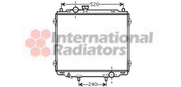 Radiateur, refroidissement du moteur - VAN WEZEL - 82002145