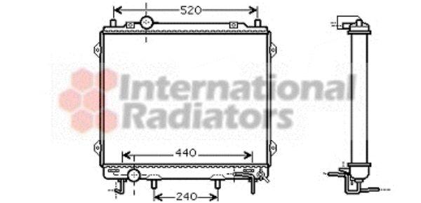 Radiateur, refroidissement du moteur - VAN WEZEL - 82002146