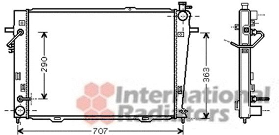 Radiateur, refroidissement du moteur - VAN WEZEL - 82002167