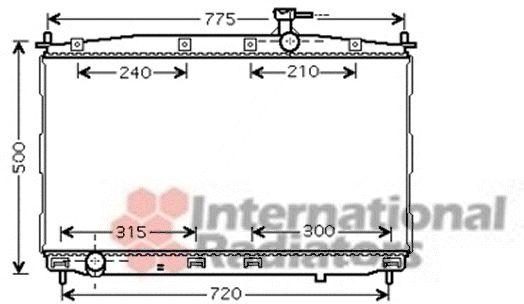 Radiateur, refroidissement du moteur - VAN WEZEL - 82002173