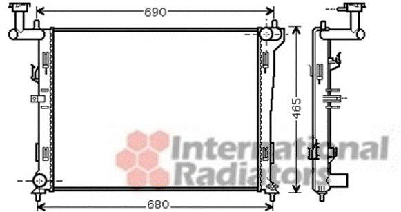Radiateur, refroidissement du moteur - VAN WEZEL - 82002179