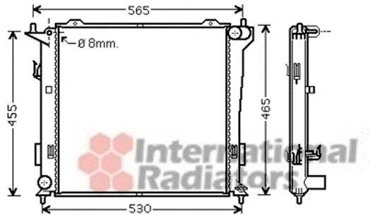 Radiateur, refroidissement du moteur - VAN WEZEL - 82002181