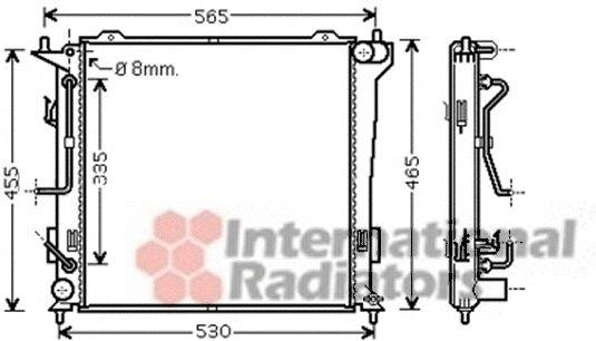 Radiateur, refroidissement du moteur - VAN WEZEL - 82002182