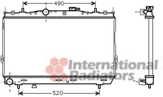Radiateur, refroidissement du moteur - VAN WEZEL - 82002185