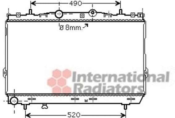 Radiateur, refroidissement du moteur - VAN WEZEL - 82002187
