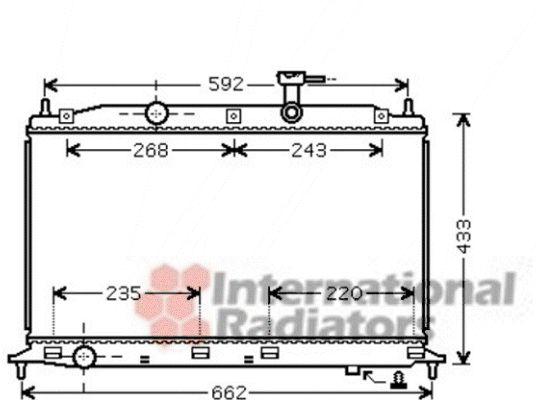 Radiateur, refroidissement du moteur - VAN WEZEL - 82002188