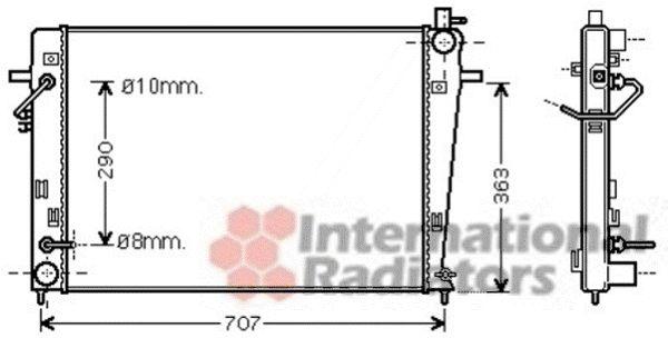 Radiateur, refroidissement du moteur - VAN WEZEL - 82002203
