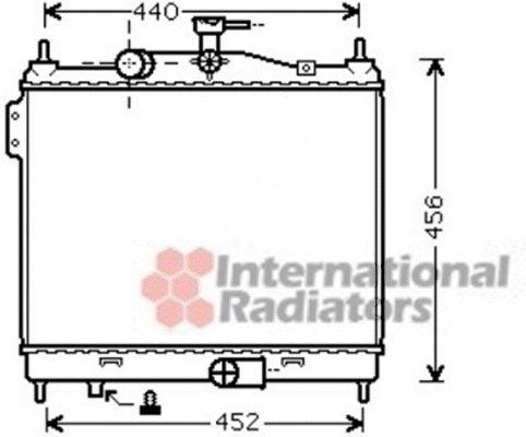 Radiateur, refroidissement du moteur - VAN WEZEL - 82002206