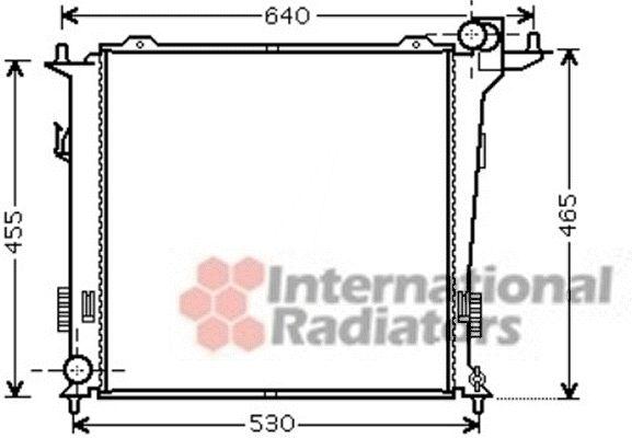 Radiateur, refroidissement du moteur - VAN WEZEL - 82002207