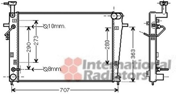 Radiateur, refroidissement du moteur - VWA - 88VWA82002211