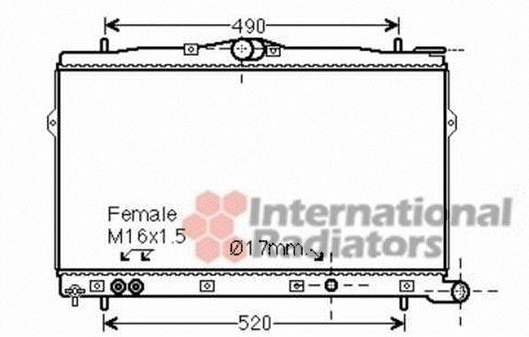 Radiateur, refroidissement du moteur - VAN WEZEL - 82002248