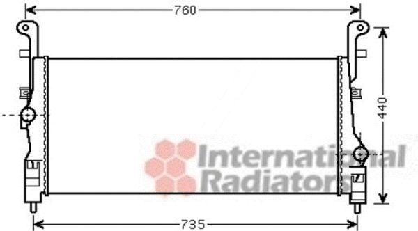 Intercooler, échangeur - VAN WEZEL - 82004200