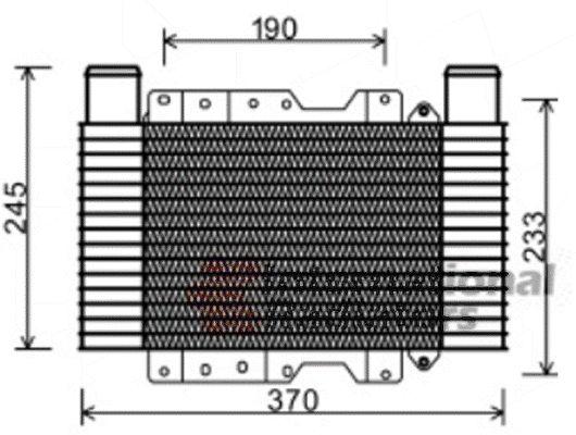 Intercooler, échangeur - VWA - 88VWA82004224