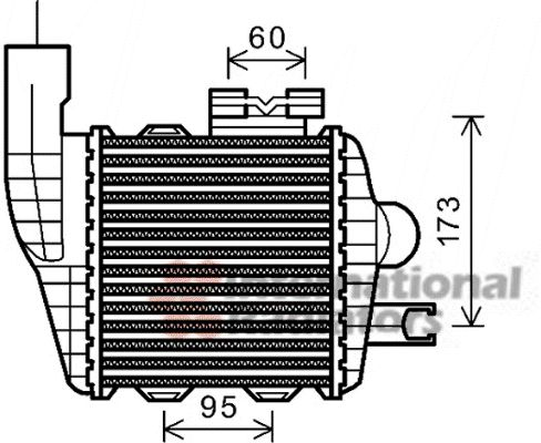 Intercooler, échangeur - VAN WEZEL - 82004226