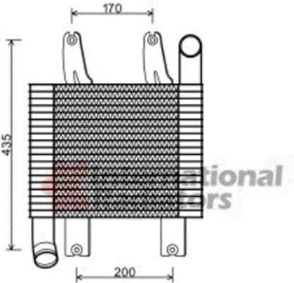 Intercooler, échangeur - VAN WEZEL - 82004229