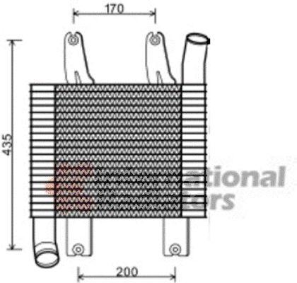Intercooler, échangeur - VWA - 88VWA82004230