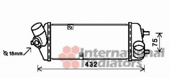 Intercooler, échangeur - VAN WEZEL - 82004235