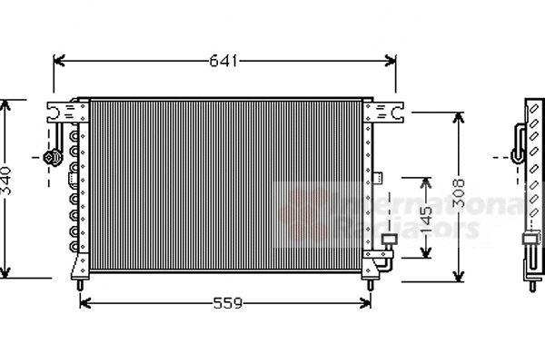 Condenseur, climatisation - VAN WEZEL - 82005038
