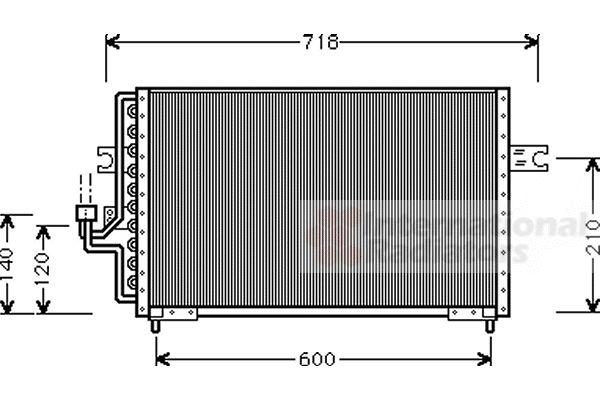 Condenseur, climatisation - VAN WEZEL - 82005042