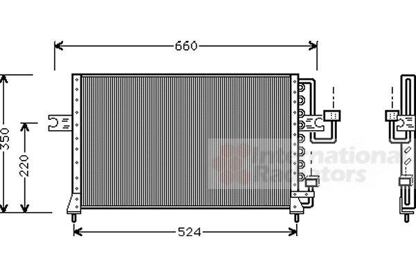 Condenseur, climatisation - VAN WEZEL - 82005045