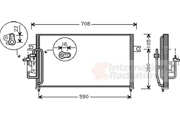 Condenseur, climatisation - VAN WEZEL - 82005059