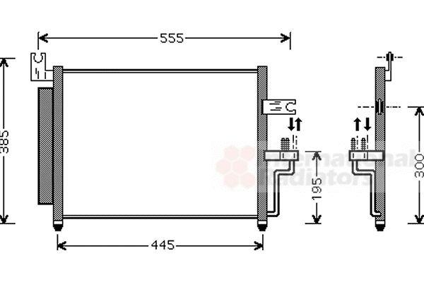 Condenseur, climatisation - VAN WEZEL - 82005081