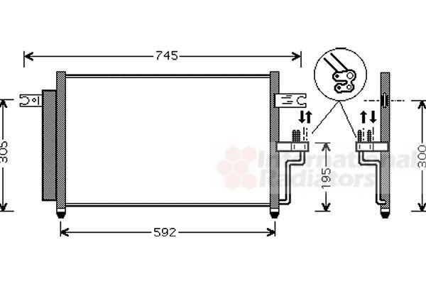 Condenseur, climatisation - VAN WEZEL - 82005082