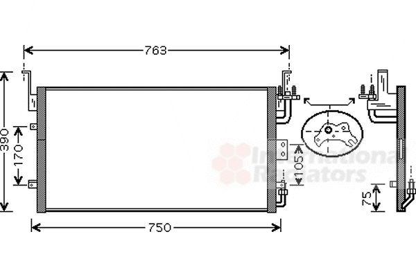 Condenseur, climatisation - VAN WEZEL - 82005083