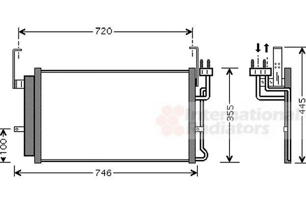 Condenseur, climatisation - VAN WEZEL - 82005084