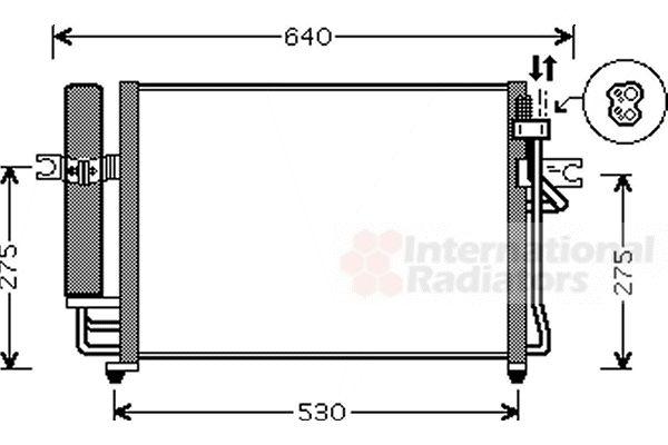 Condenseur, climatisation - VAN WEZEL - 82005090
