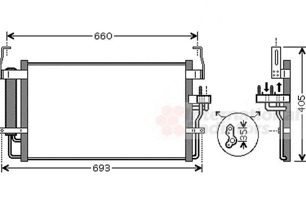 Condenseur, climatisation - VAN WEZEL - 82005092