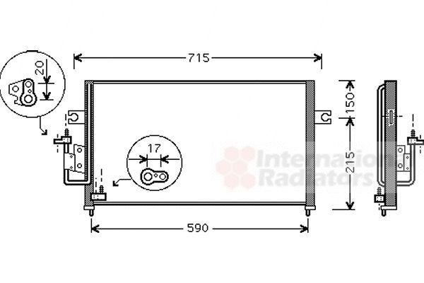 Condenseur, climatisation - VAN WEZEL - 82005116