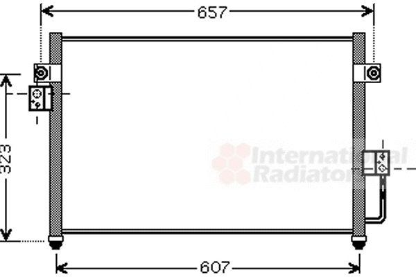 Condenseur, climatisation - VAN WEZEL - 82005134