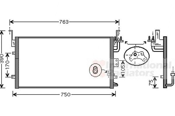Condenseur, climatisation - VAN WEZEL - 82005135